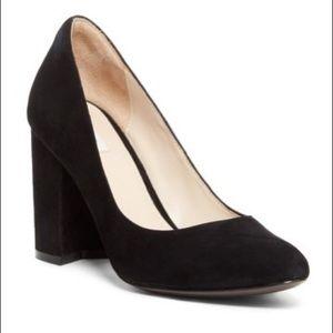 Cole Haan Eliree black suede block heel size 7.5